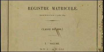Que retrouve-t-on sur les registres matricules ?