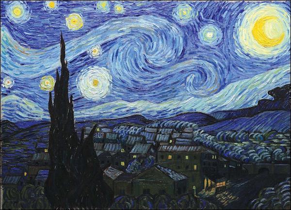 On se repose en regardant une toile de van Gogh :