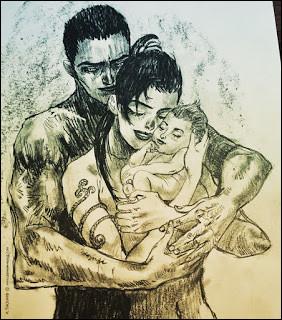 Qui sont son mari et son enfant ?