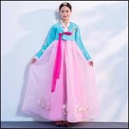 Vêtements - Comment s'appelle la tenue traditionnelle féminine en Corée ?
