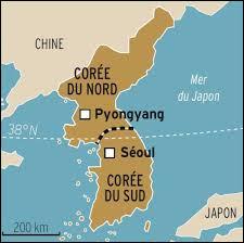 Géographie - Quel pays est le plus grand, entre la Corée du Nord et la Corée du Sud ?