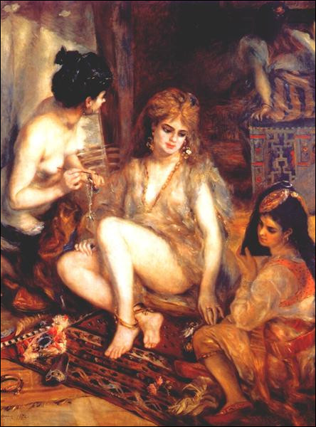 """Qui a peint """"Le Harem (Les Parisiennes s'habillent en Algériennes)"""" ?"""