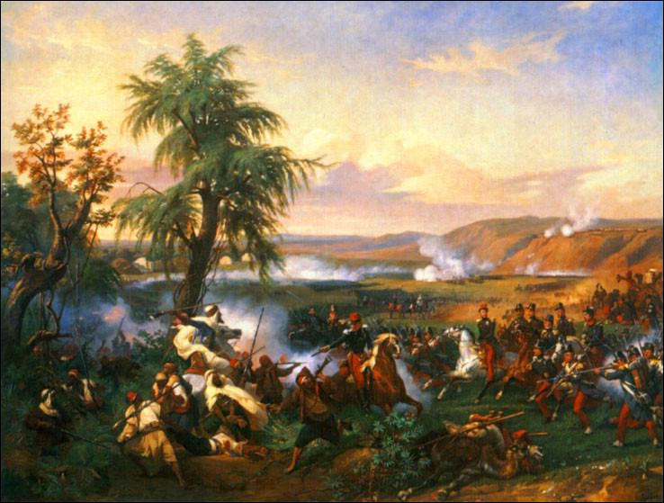 """Qui a peint """"La bataille d'Habra, Algérie, décembre 1835"""" ?"""