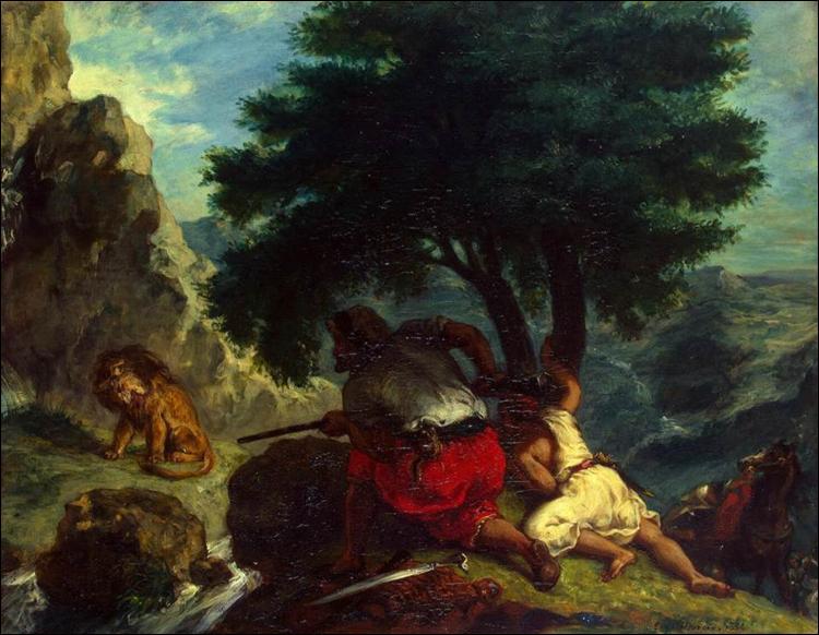 """Qui a peint """"Chasse au lion au Maroc"""" ?"""