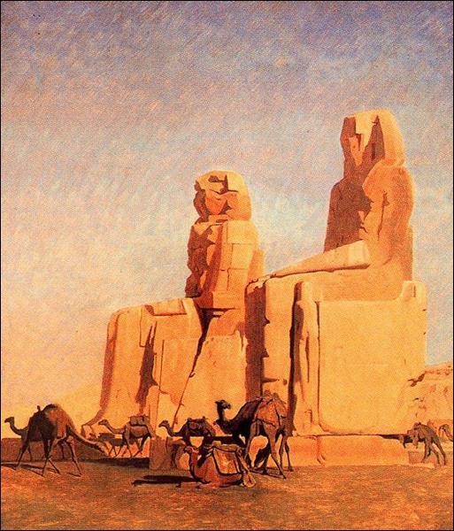 """Qui a peint """"Colisée de Thèbes, Memnon et Sésostris (étude)"""" ?"""