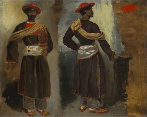 "Qui a peint ""Deux vues d'un Indien debout de Calcutta"" ?"