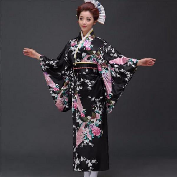 Ce vêtement fait partit des traditions japonaises. Comment l'appelle-t-on ?