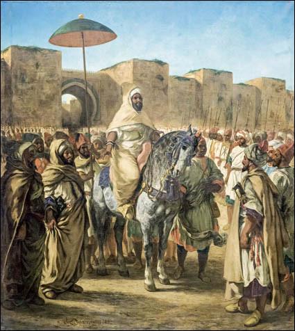 """Qui est le peintre de la toile """"Le Sultan du Maroc"""" ?"""