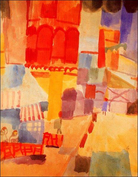 """Qui est le peintre de """"La Place Halfaouine à Tunis"""" ?"""