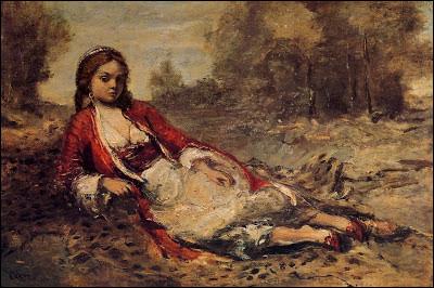 """À qui appartient le tableau intitulé """"L'Algérienne couchée sur le gazon"""" ?"""