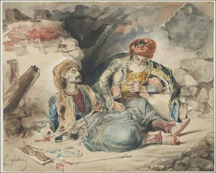 "Qui a peint ""Le Turc mourrant"" ?"