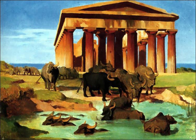 "Qui a peint ""Vue de Paestum"" ?"