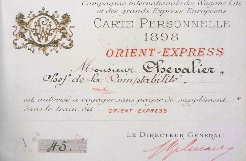 Avant de monter à bord, il vous faut un titre de transport valide. Savez-vous à l'époque quel était le prix d'une place à bord de l'Orient-Express ?