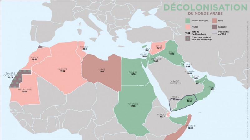 Quels pays font partie de l'Orient ?