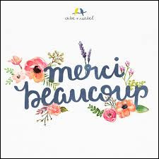 "Comment dit-on ""merci beaucoup"" ?"