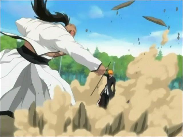 Quelle est la nature de l'homme que combat Ichigo ?