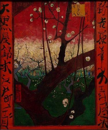 """Qui a peint """"Le Prunier en fleurs"""" ?"""
