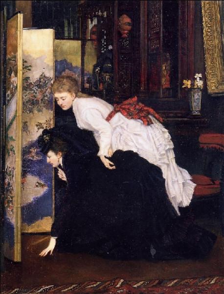 """À qui appartient la toile """"Jeunes Demoiselles regardant les objets japonais"""" ?"""