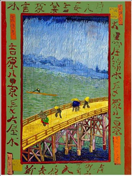 """À qui doit-on cet hommage à Hiroshige sur un tableau intitulé """"Pont sous la pluie"""" ?"""