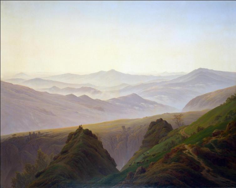 """Quel peintre romantique allemand a peint """"Matin sur la montagne"""" ?"""