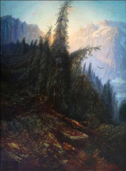 """Quel peintre français du XIXe a réalisé le tableau """"Paysage de montagne"""" ?"""