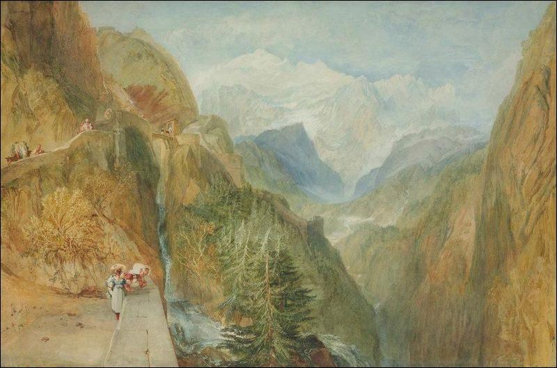 """Quel peintre romantique du XIXe a réalisé le tableau """"Mont Blanc de Fort Roche, Val d'Aoste"""" ?"""