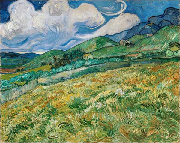 """Qui a peint """"Paysage de montagne derrière l'hôpital de Saint-Rémy"""" ?"""