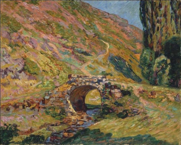 """""""Pont dans les montagnes"""" est un tableau de quel peintre ?"""