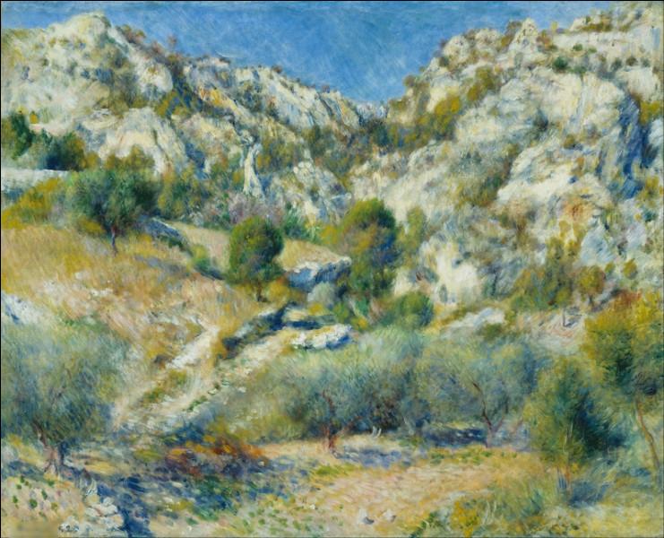 """Quel peintre est l'auteur du tableau """"Rochers à l'Estaque"""" ?"""