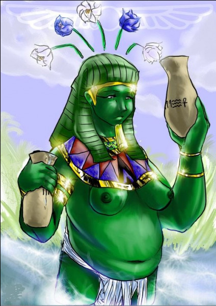 Génie opulent du fleuve Nil. Quelle est cette divinité androgyne ?