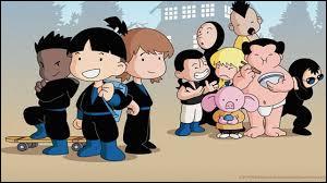 Quel est ce dessin animé où l'on peut voir des élèves étudier dans une école de ninja ?