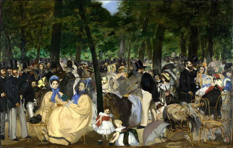 """Qui a peint ce tableau """"La Musique aux Tuileries"""", en 1862 ?"""