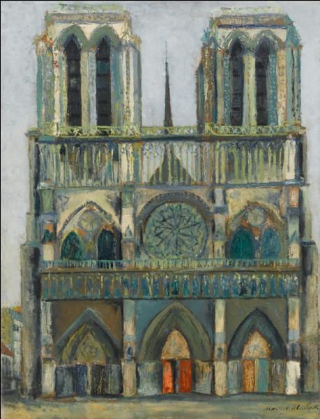 Qui a peint ce magnifique tableau de Notre-Dame en 1909 ?