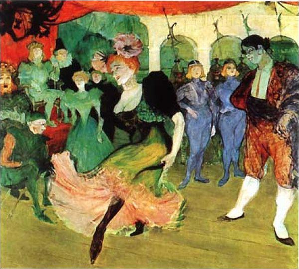 Dans quel célèbre cabaret parisien le peintre Henri de Toulouse-Lautrec a-t-il peint ce tableau ?