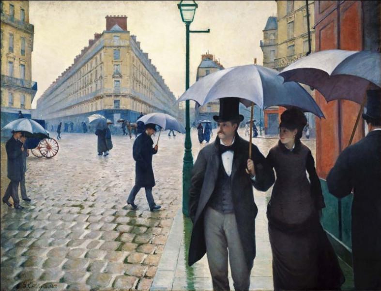 """Qui a peint ce tableau intitulé """"Jour de pluie"""" en 1877 ?"""