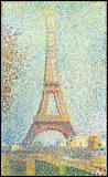 Qui a peint ce tableau représentant la tour Eiffel, en 1889 ?