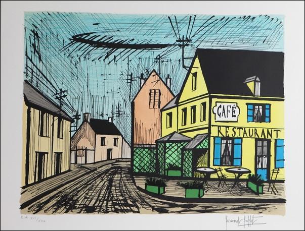 """De qui est le tableau ''Mareuil le café jaune et bleu"""" ?"""
