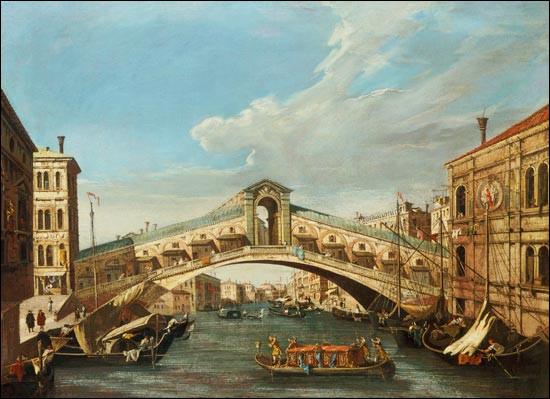 """De qui est le tableau ''Le Pont du Rialto"""" ?"""