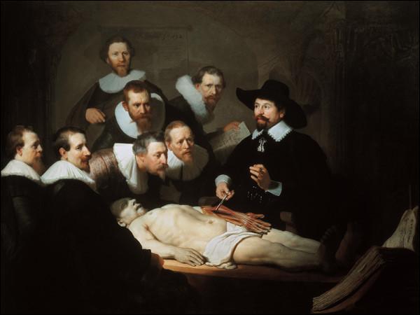 """De qui est le tableau ''La Leçon d'anatomie du docteur Tulp"""" ?"""