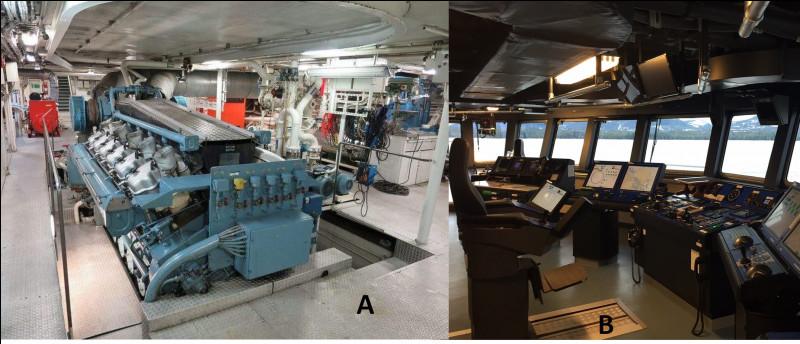 Pour clore cette grande visite, dites-moi quelle illustration correspond à la salle des machines ?