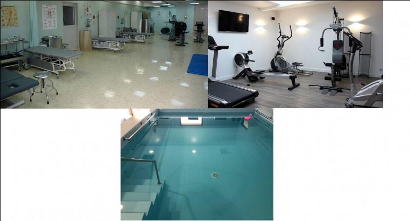 Dans celui-ci, une salle de kiné, une salle de sport et une pour la balnéothérapie sont disponibles. Il s'agit du service de...