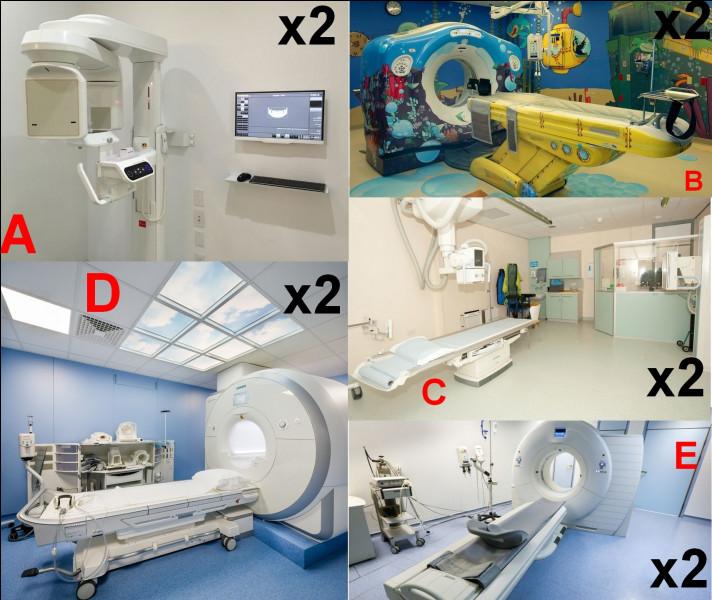 En médecine nucléaire, le service possède IRM, scanner adultes et enfants, radiographie du corps et un second pour la bouche et les dents. Quelle image représente ce dernier ?