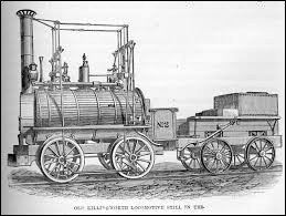 Qui a inventé la locomotive en Angleterre en 1825 ?