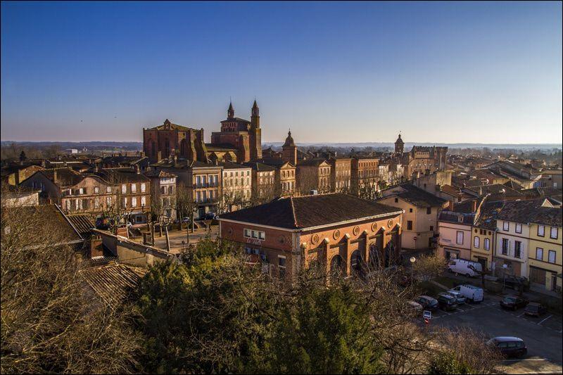 Petite ville de 5 500 habitants traversée par le Tarn, située dans l'ouest du département du Tarn :