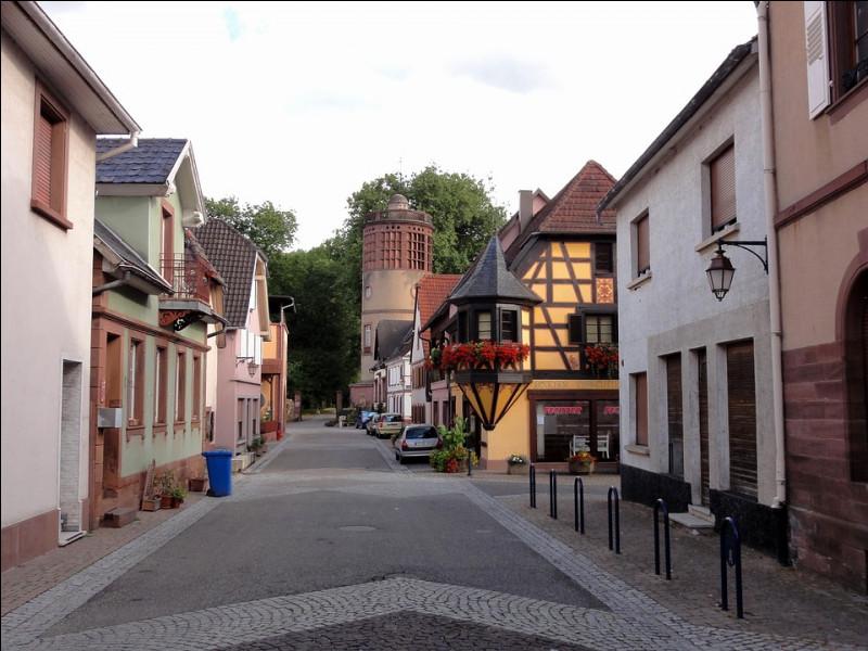 Petite ville de 5 400 habitants du département du Bas-Rhin, située dans le nord de l'Alsace, en bordure des Vosges du nord :