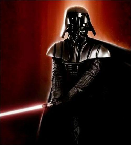 Il a été entraîné dans le côté obscur de la force par Dark Sidious :