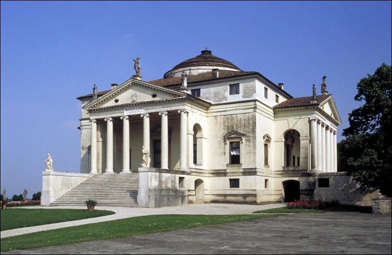 """À quel artiste né à Padoue en 1508 et qui a influencé considérablement l'architecture dans le monde, doit-on l'œuvre """"Les Quatres Livres sur l'Architecture"""" et la réalisation de la villa Almerico-Capra inscrite depuis 1994 sur la liste du patrimoine mondial de l'Unesco ?(ph. : Villa Almerico-Capra, dite """"La Rotonda"""")"""