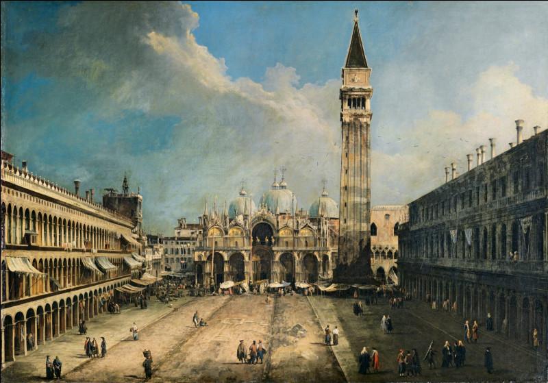 """""""Ciao"""", l'un des mots italiens les plus familiers à travers le monde - avec orthographes et usages différents- est tiré du dialecte vénitien signifiant à l'origine : (ph. : """"Piazza San Marco verso est"""" par Giovanni Antonio Canal dit Canaletto)"""