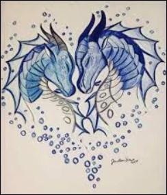 Qui est le dragon dont Tsunami est amoureuse et quand le rencontre-t-elle pour la première fois ?