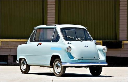 Placer deux avants de BMW Isetta dos-à-dos, faites les fusionner et vous obtenez ça. Ce microcar allemand a été déterré en 2011 dans un film d'animation :
